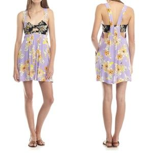 NWT Free People Knotted Front Mini Dress   Small